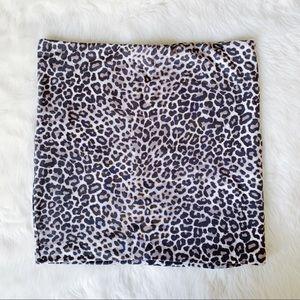 Cheetah Leopard Print H&M Bodycon Mini Skirt Small